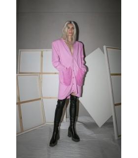 Short dress or jacket, long sleeves, v-neck, distressed pockets