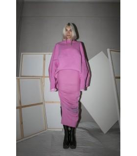 Midi skirt, asymmetric