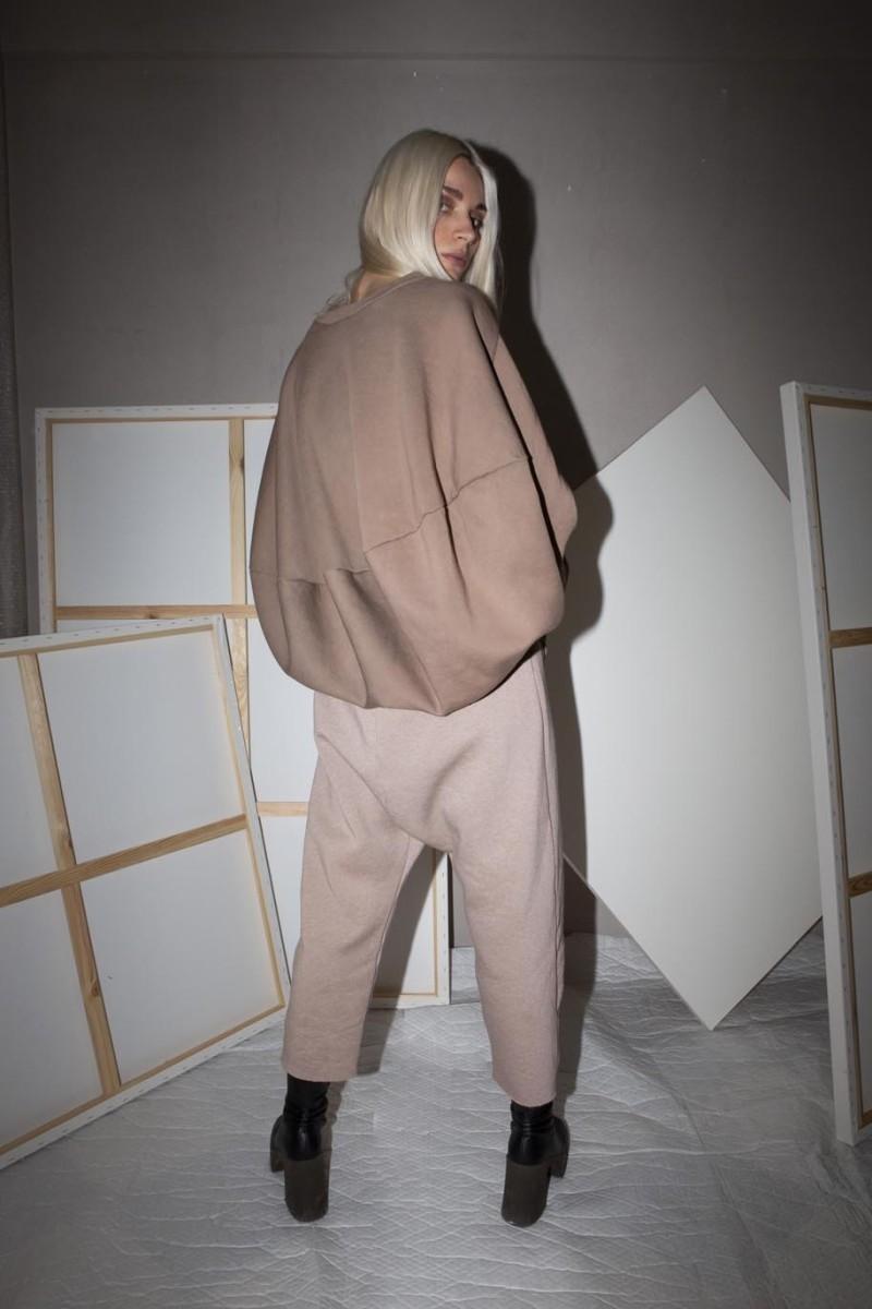 Top, long sleeves, circle cut, oversized